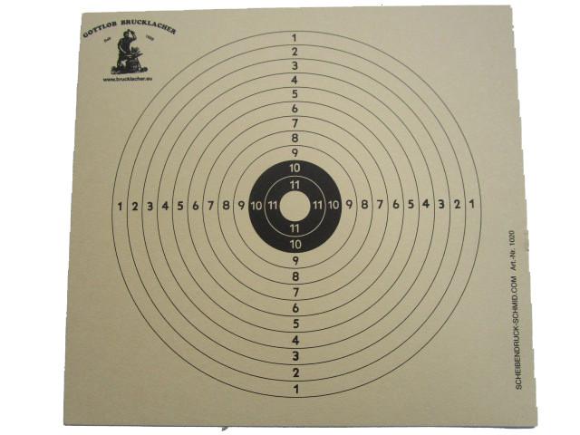 12-Ringscheibe für Luftgewehr