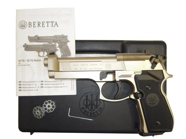 Beretta 92 FS nickel / vernickelt cal. 4,5 mm CO2 Pistole