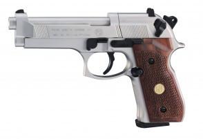 Beretta 92 FS nickel / holz vernickelt cal. 4,5 mm Diabolos