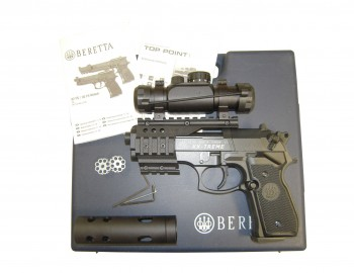 Beretta 92 FS XX-Treme poliert, brüniert, Kunststoffgriff cal. 4