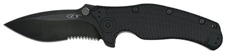 Kai Zero Tolerance Knives MATTE BLACK-0200ST mit Sägezahnung