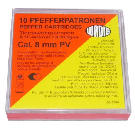 Wadie Pfefferpatronen Kaliber 8mm PV