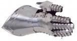 Rüstungsteile Tragbarer Fäusting rechts Innenhandschuh aus Leder