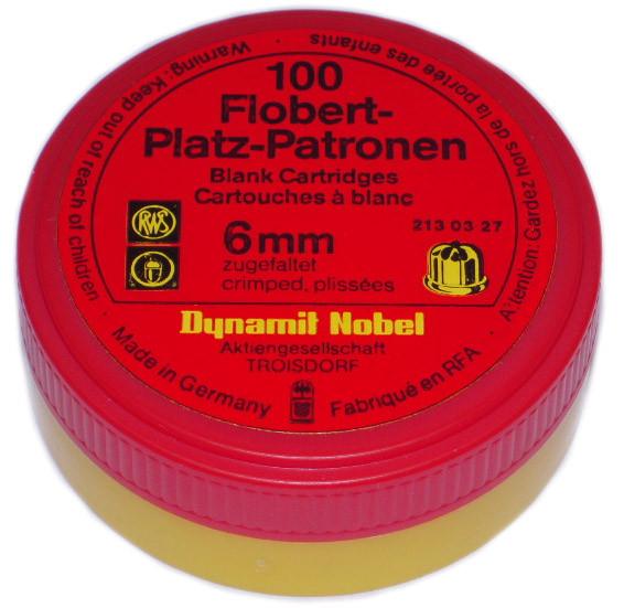 100 Stück Platzpatronen Kaliber 6 mm Flobert v. der Firma RWS