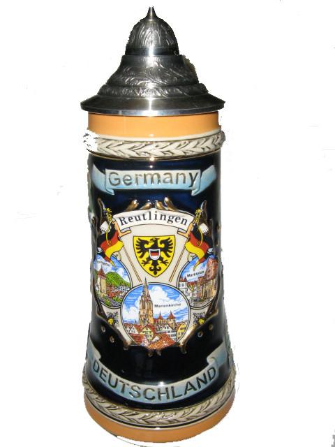 Souvenir Reutlingen/Reliefseidel 0,125 Liter mit Spitzdeckel