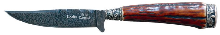 Trachtenmesser mit handgeschmiedeter Damastklinge