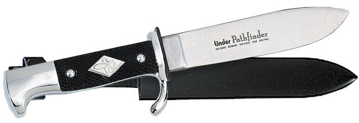 Linder Pfadfindermesser mit Metallgriff und 11cm Klingenlänge