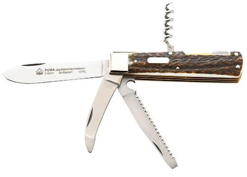 Puma Hirschhorn Taschenmesser 4-teilig