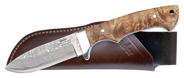 Jagdmesser mit Damaststahl-Klinge Linder