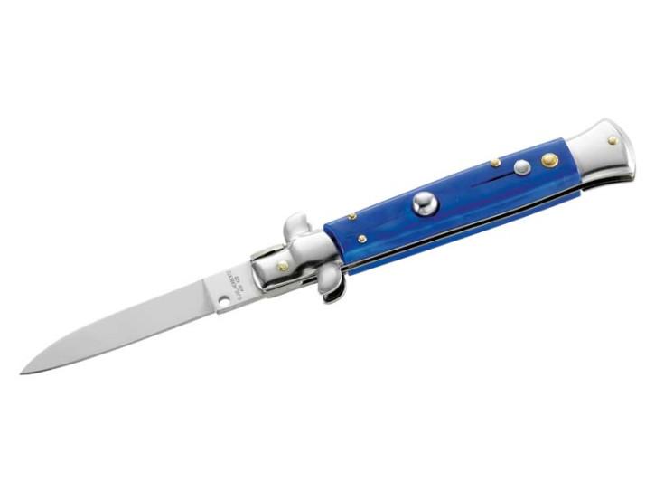 Herbertz Springmesser, AISI 420, Kunststoff, blau