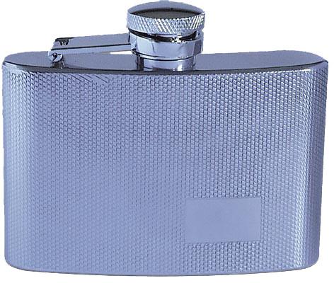 Flachmann im Silver - Riffelmuster 110 ml