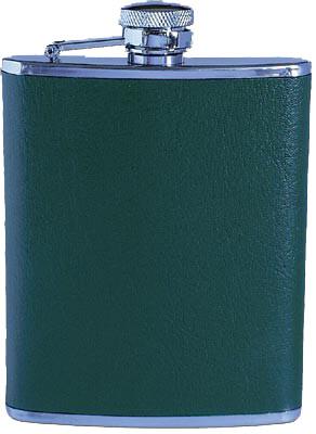 Flachmann mit grüner Belederung 170 ml
