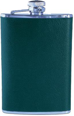 Flachmann mit grüner Belederung 230 ml