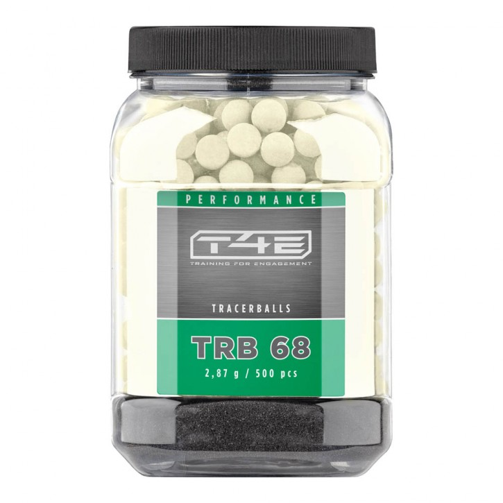 T4E Performance TRB 68 cal. .68 - Inhalt 500 Stk., Gummikugeln, Tracer