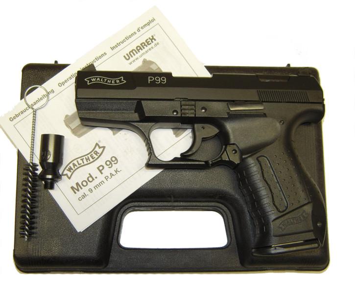 Walther P99 Schlitten brüniert Gas- Signalwaffe