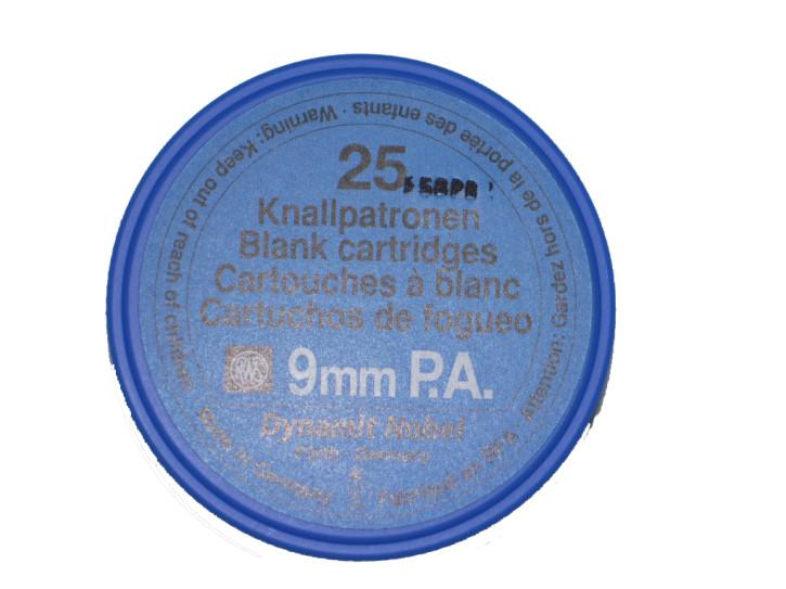Platzpatronen Kaliber 9 P.A.K. 25 Stück RWS für Signalpistolen