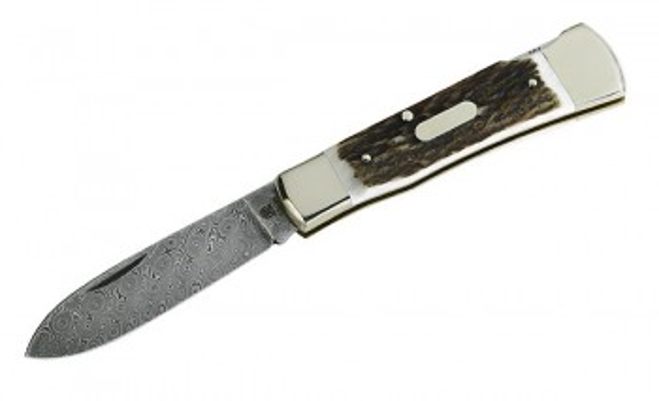 Hartkopf Damast-Taschenmesser, Limited Edition, 300 Lagen, Hirsc