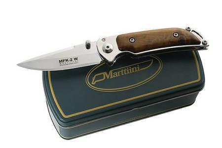 Marttiini Einhandmesser MFK-2W, Stahl 420, Birkenholz, Metallbox