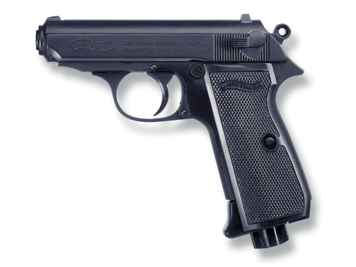 PPK/S poliert brüniert cal. 4,5 mm / BB Rundkugeln CO 2 Pistole