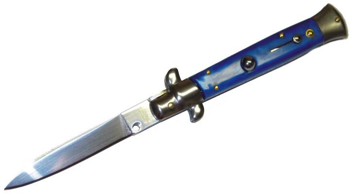 Haller Springmesser Stiletto blau