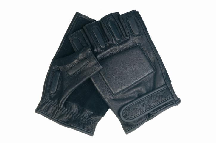 Handschuhe SEC Fingerlinge Leder schwarz Größe M