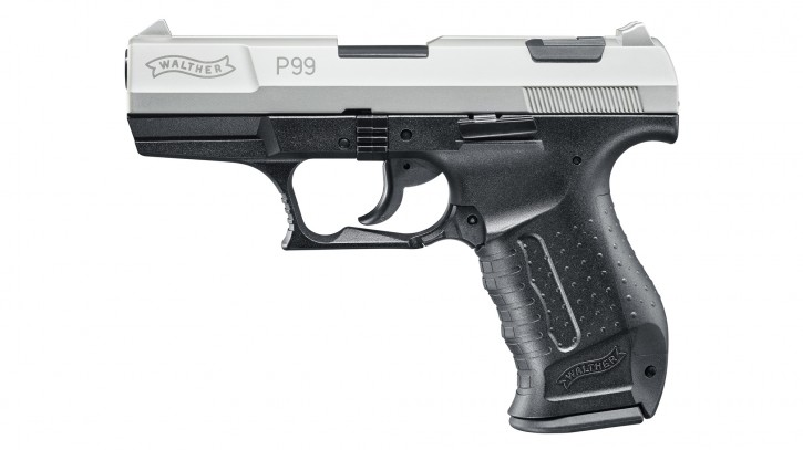Walther P99, vernickelt, 9mm P.A.K.