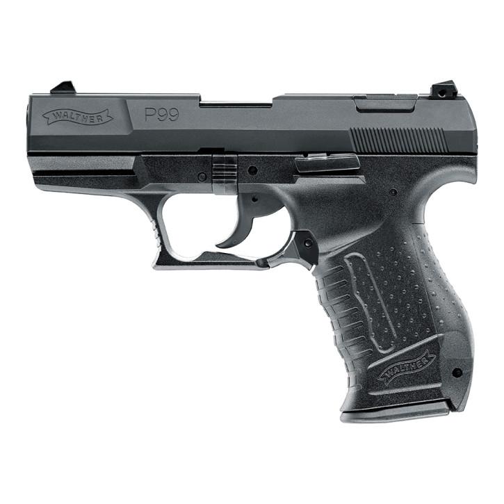 Walther P99, brüniert Stahlschlitten, 9mm P.A.K.