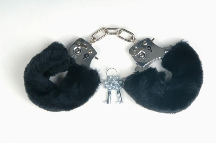 Handschellen mit schwarzem Plüsch