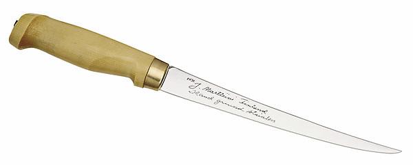 Finnisches Filiermesser, Klinge 19 cm, Holzgriff