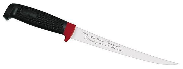 Finnisches Filiermesser, Klinge 19 cm, Kautschuk-Griff