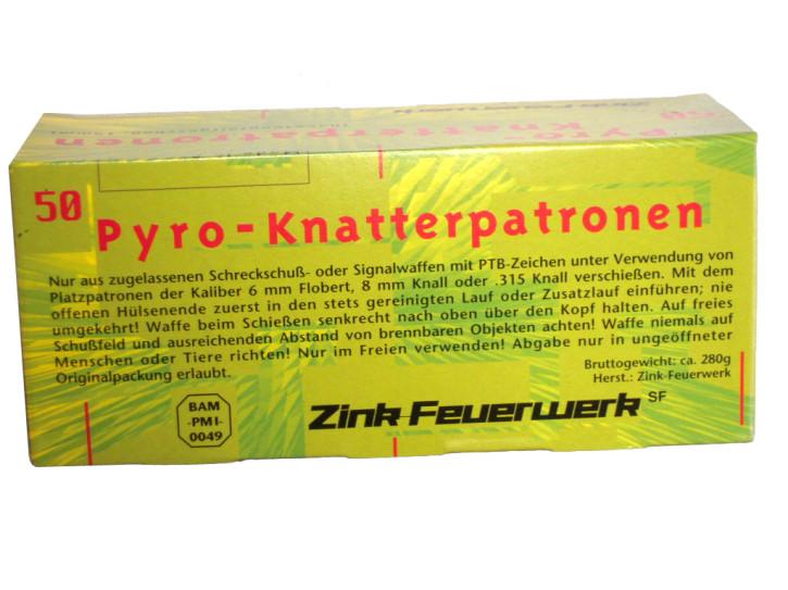 Zink - Feuerwerk Pyro-Knatterpatronen 15 mm