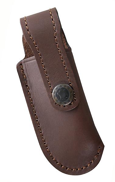 Braunes Lederetui, mit Gürtelschlaufe, für Messer mit 10 cm Heft