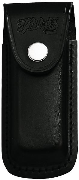 Messer-Etui, schwarzes Leder, eingeschnittene Schlaufe, für Mess