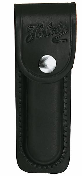 Herbertz Lederetui, schwarz, für Heftlänge 9 cm