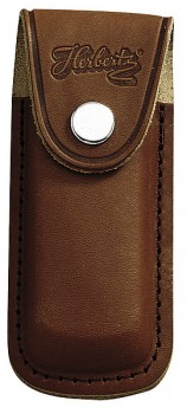 Messer-Etui, braunes Leder, eingeschnittene Gürtelschlaufe, für