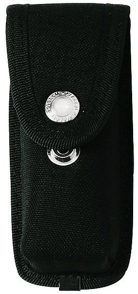 Messer-Etui aus Cordura, schwarz, 2 Druckknöpfe, Gürtelschlaufe