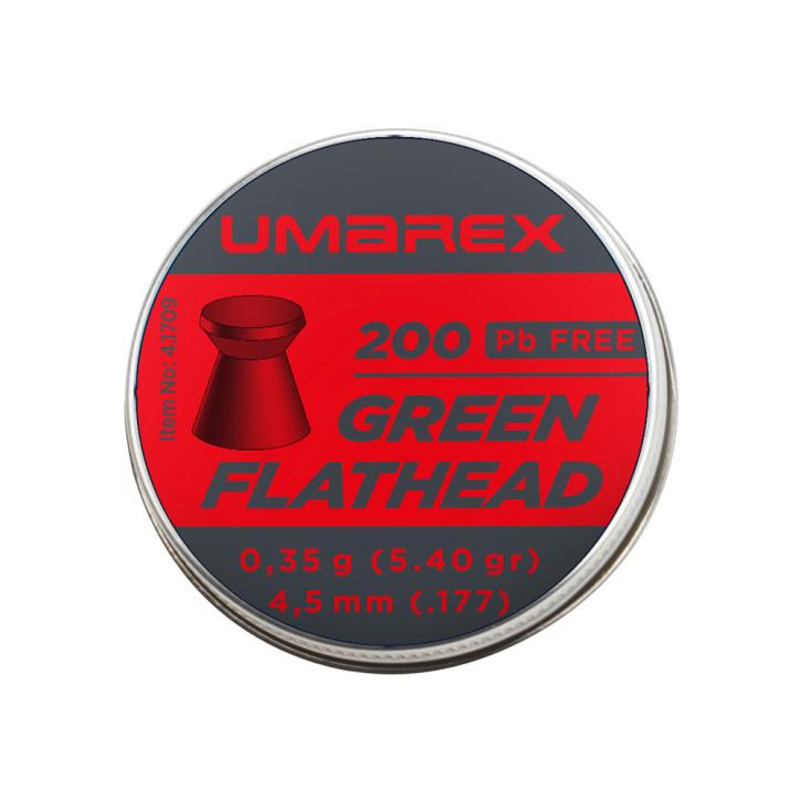 Umarex Green Flathead 4,5mm (.177) Diabolo, 200 St., Dose