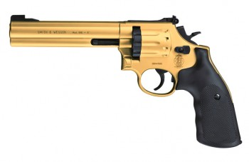 "Smith & Wesson Mod. 686-6"" cal. 4,5 mm (.177) Diabolo - Gold Finish"