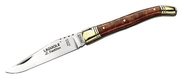 Laguiole-Messer, Stahl 12C27, Bruyere-Holzschalen