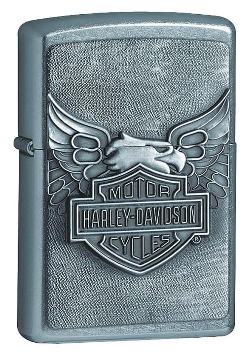 Zippo-Benzinfeuerzeug, Motiv Harley-Davidson.