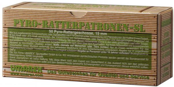 "50 Umarex Pyro-Ratterpatronen \""Extra Laut\"" Vogelschreck 15 mm"