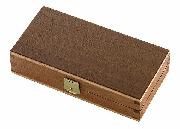Holzbox für Taschenmesser mit Schaumstoffeinlage, Sapeli-Sperrho