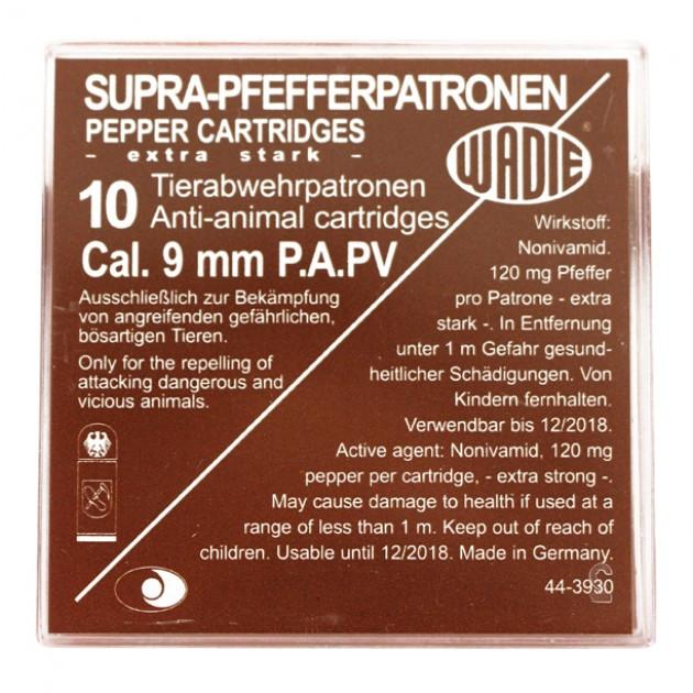 Pfefferpatronen 9 mm P.A. SUPRA