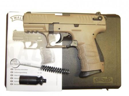 Walther P22Q, Flat Dark Earth, Gas-Signalpistole