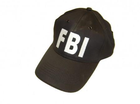 BASEBALL CAP SCHW. \'FBI\'