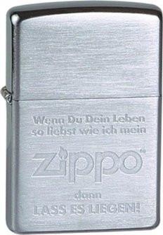 "Orginal ZIPPO 60001328 ""Wenn du dein Leben"""