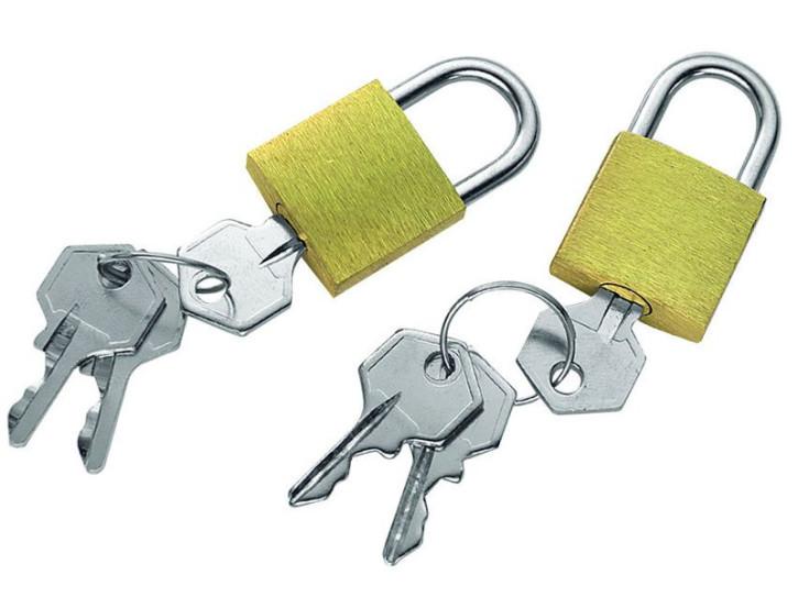 Vorhängeschlösser für den Rucksack, Messing, 2er-Packung