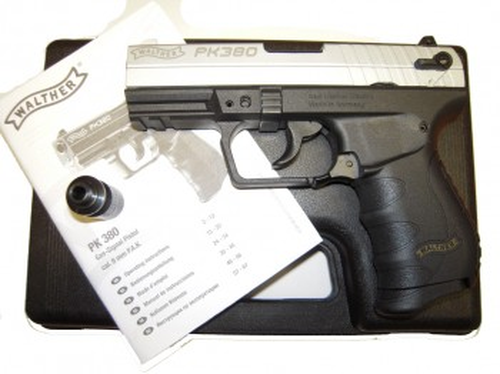 Walther PK 380, vernickelt, 9mm P.A.Knall