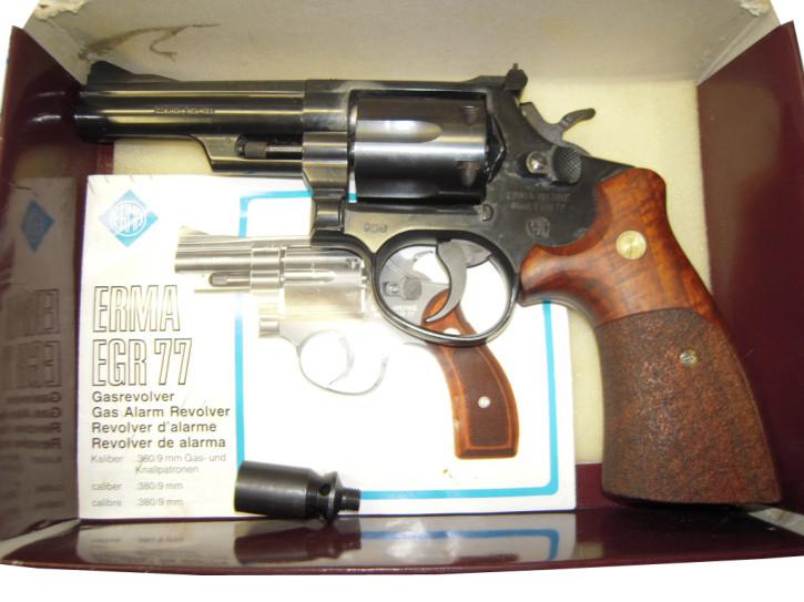 Erma EGR 77 lang, Kaliber 9mm R Knall