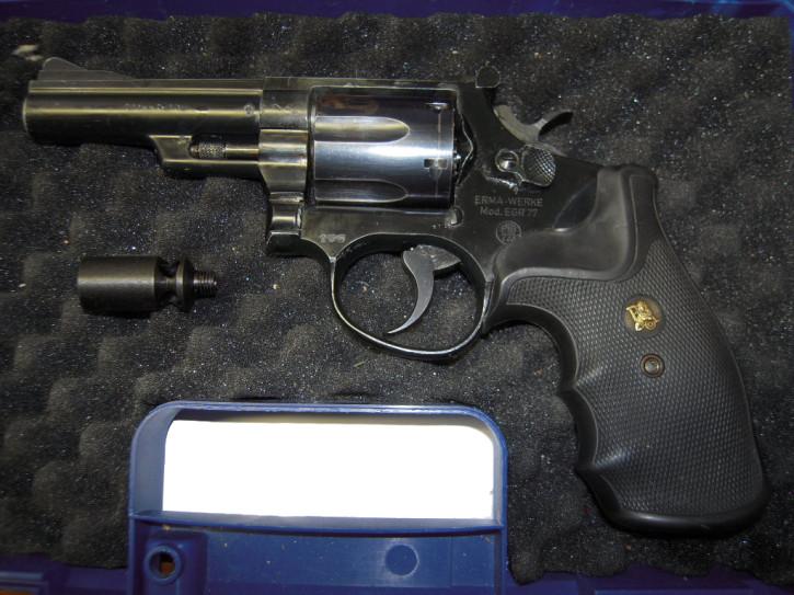 Sammlerrevolver Erma EGR 77 lang, 9mm R Knall